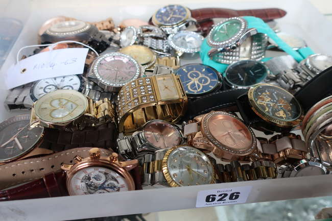 A large collection of high street fashion watches to include Michael Kors
