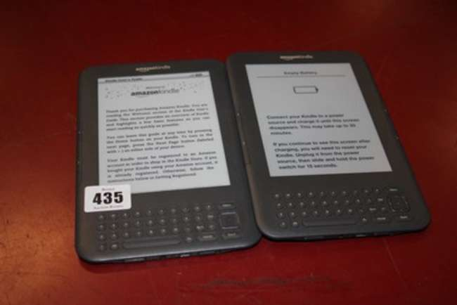 A Kindle keyboard 3g, wifi BOOA DOB1 1305    | Lot 435 | No cat, 5