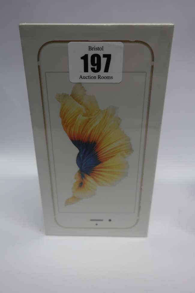 A boxed as new iPhone 6s 64GB model A1688 in Gold (IMEI: 355429070951472) (Box sealed).