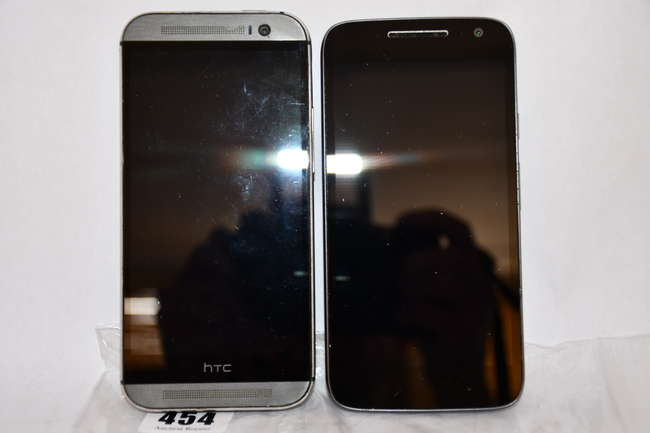 A Motorola Moto G4 Play 16GB (IMEI: 354145071543347) and an HTC One M8 16GB (IMEI: 357871056793998) (Both FRP clear).