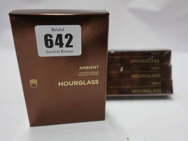 Five as new Hourglass Arch Brow Sculpting pencils and Five Hourglass Ambient Powder Brushes.