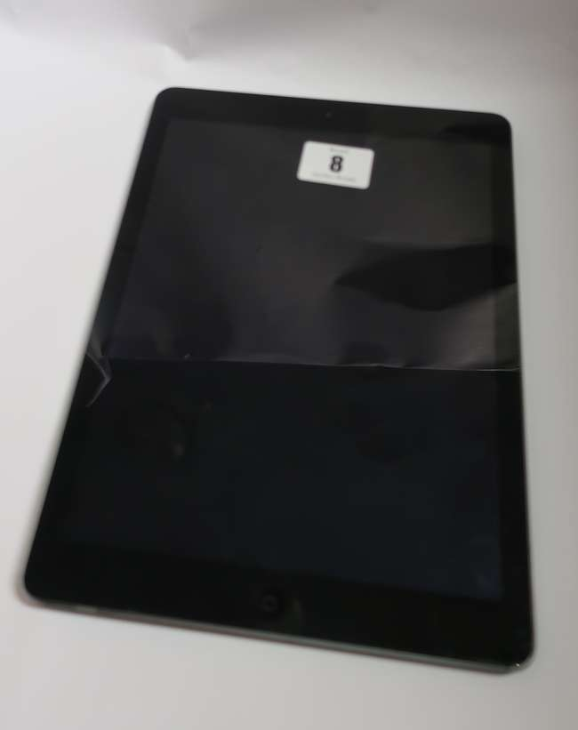 An Apple iPad Air (Wi-Fi/Cellular) A1475 64GB in Space Grey (IMEI: 35884505033681) (Activation clear).