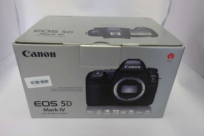 A boxed as new Canon EOS 5D Mark IV Digital SLR Camera (Body only).
