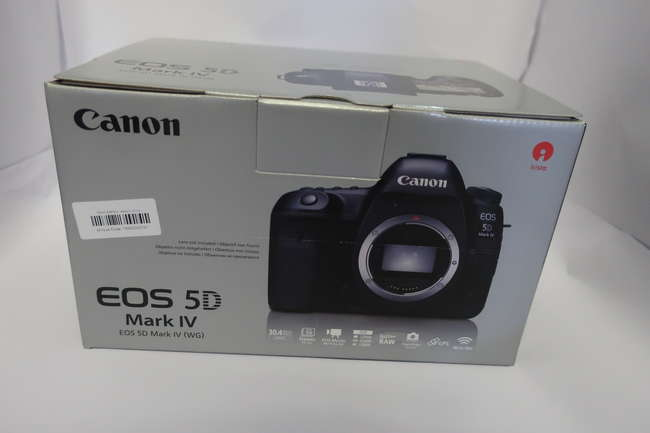 A boxed as new Canon EOS 5D Mark IV (WG) Digital SLR Camera (Body only).