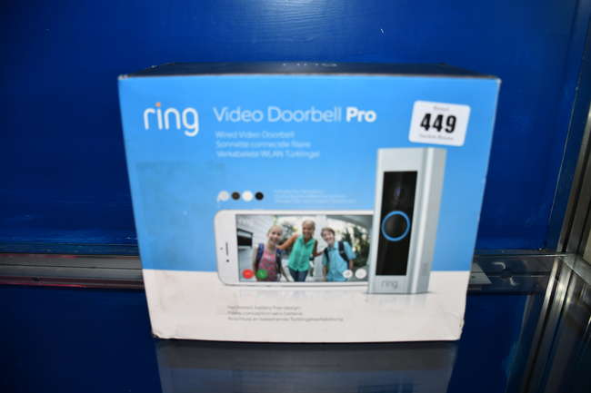 A boxed as new Ring Video Doorbell Pro.