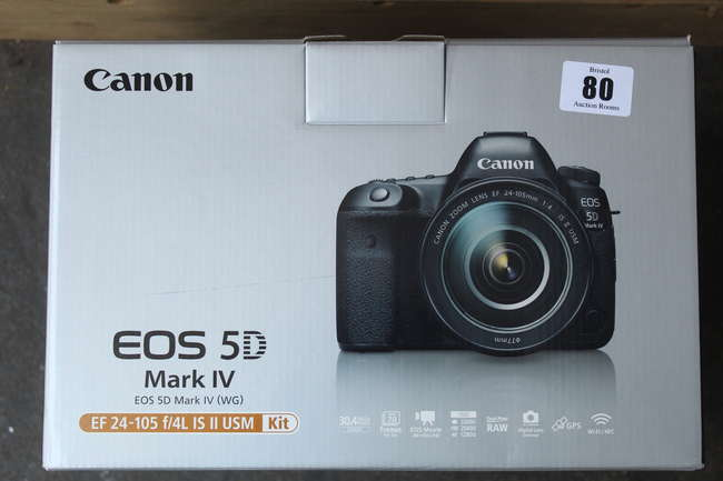 A Canon EOS 5D Mark 1V EF 24-105 f/4L IS 11 USM (Body only)