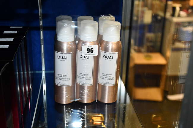Six as new OUAI Haircare hair and body shine mist (107g).