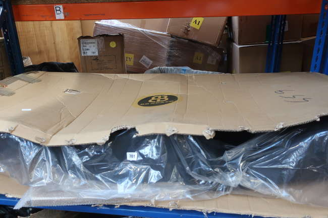 One boxed as new BB Seats BB6 Diamond Stitched reclining tilting bucket sports racing seat in black.