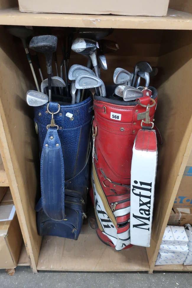 Two set of pre owned golf clubs.