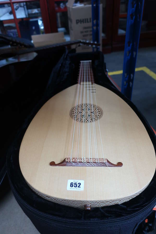 A pre-owned Lute in canvas case.