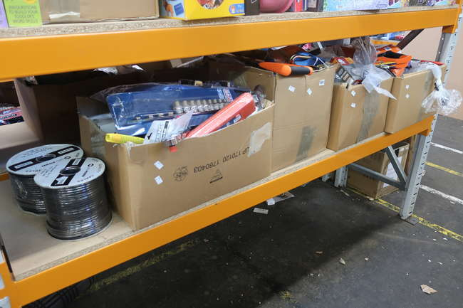 Four boxes of as new/ used tools to include Mac tools, Milwaukee, Sealey, Irwin.