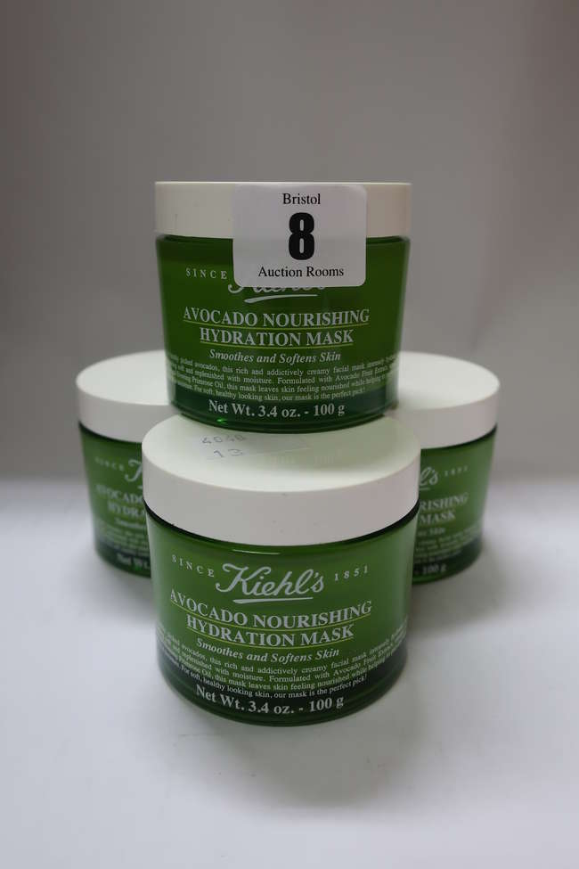 Four as new Kiehl's Avocado Nourishing Hydration Masks (100g).
