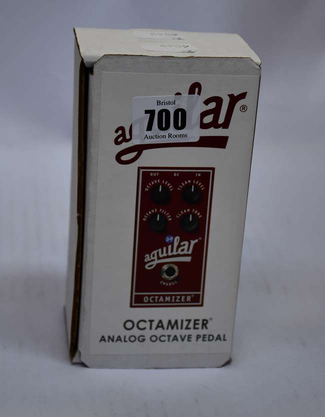 A boxed as new Aguilar Octamizer analog octave pedal.