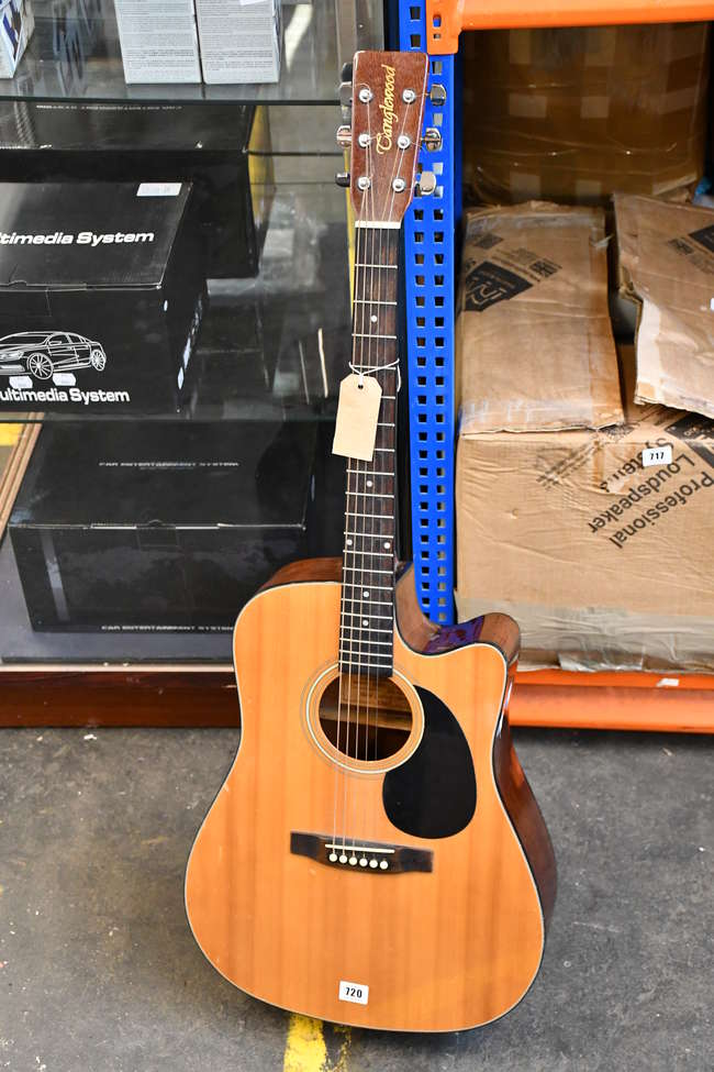A pre-owned Tanglewood Indiana acoustic electric guitar.