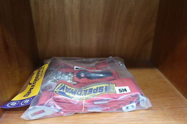 A new Speedway seat belt combo/IMD Harness 910-728-Red.
