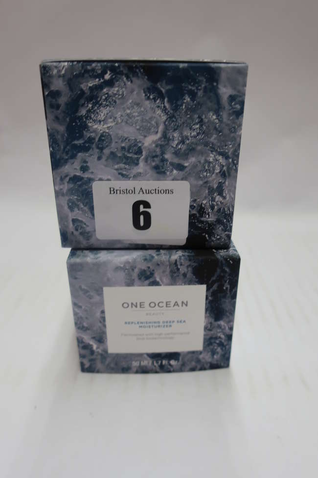 Five boxed as new One Ocean replenishing deep sea moisturizer (5 x 50ml).