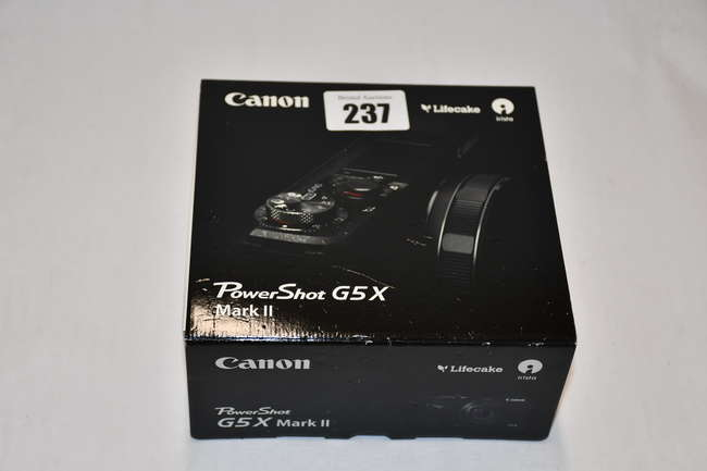 A boxed as new Canon PowerShot G5 X Mark II Compact Camera (Box opened).