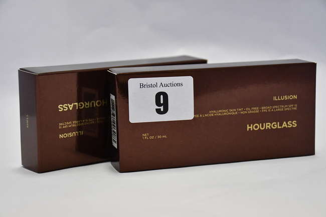 Ten boxed as new Hourglass Illusion Hyaluronic Skin Tint (30ml), in various shades.