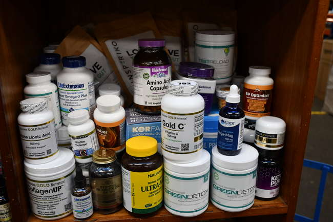 A quantity of as new health and fitness supplements to include Natural Whole Nutrition Collagen Peptides, Science-Based Green detox drink and Bluebonnet Amino Acid Capsules.
