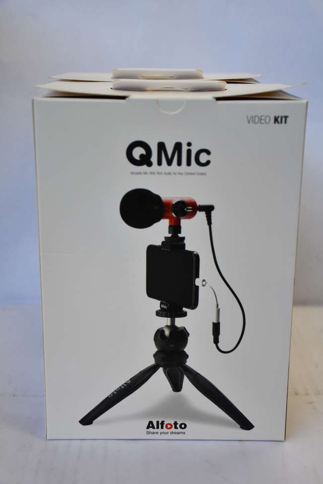Two boxed as new Alfoto Q Mic Video Kits (Versatile Mic with rich audio for any content creator).