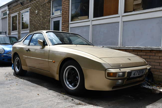 A 1984 Porsche 944 coupe, registration number 47 EFH, 2479cc, petrol, three former keepers, MOT expired 26/3/2020, V5 document available.