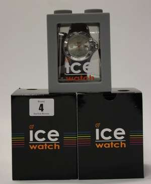 Three Ice-Watch Sili Forever silver unisex silicone watches.