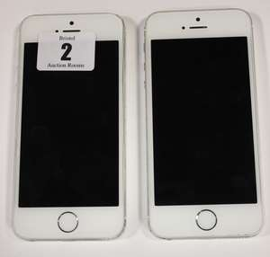 Two iPhone 5S A1457 imei: 357997053870677 and 359262065144464 (Both activation locked, one with cracked screen).