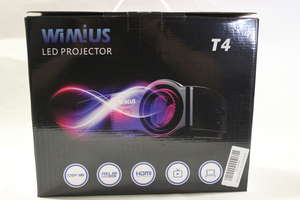 A Wimius multimedia LED Projector T4 (Boxed as new).