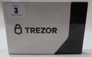 A boxed as new Trezor Model T Cryptocurrency hardware wallet.