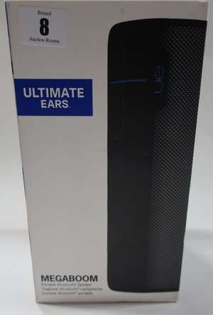 A boxed as new Ultimate Ears Megaboom portable
