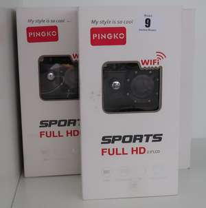 Five boxed as new Pinko sports cameras 1080FHD.