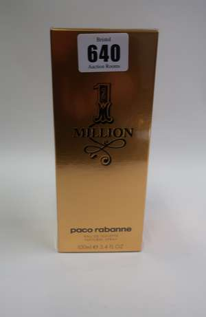 Five Paco Rabanne Million eau de toilette (100ml).