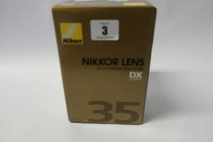 A boxed as new Nikon Nikkor AF-S DX 35mm f/1.8G lens.