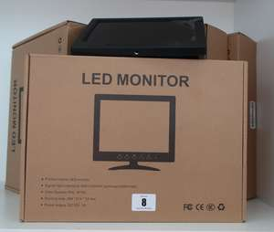 Five boxed as new 7 LED monitors.