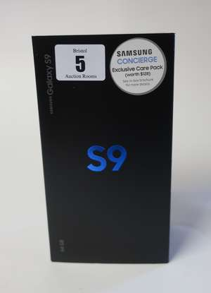 A boxed as new Samsung Galaxy S9 SM-G960F/DS 64GB