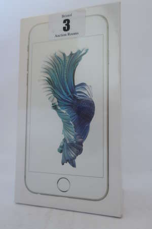 An as new iPhone 6s silver 16GB, IMEI: 355693074648190