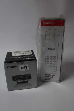 A Canon EF-S lens 24mm...