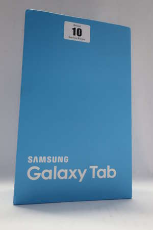 A Samsung Galaxy Tab A 2016 SM-T280 16GB 7 Tablet (Serial: R52HA1QVVDA) (Possibly refurbished) with box and accessories).
