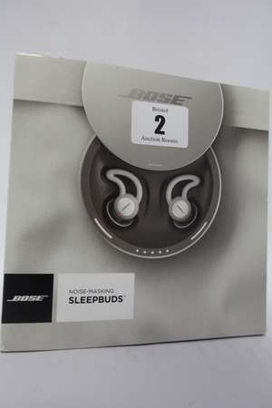 A boxed as new pair of Bose Noise Masking Sleepbuds (packaging opened).