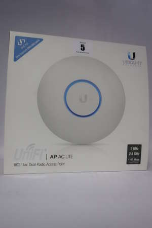 A boxed as new Ubiquiti UAP-AC-LITE UniFi AP AC Lite, 802.11ac Dual Radio Access Point.