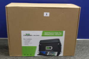 A boxed as new ChargeTech Mini Wall Mount & Table Top Charging Station (WM4) (SKU:CT-300060) (Box Sealed).