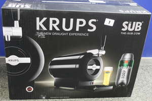 A boxed as new Krupps 'The Sub' home draught beer tap (Model: VB650840) (Box sealed).