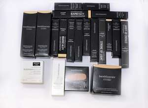 A quantity of as new miscellaneous bareMinerals make-up and beauty products to include two BarePro performance wear liquid foundations