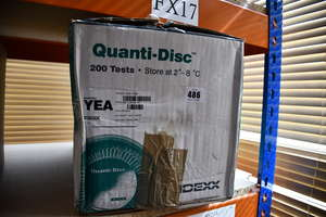 One box of as new IDEXX Quanti-Disc YEA Test Kits (For the quantification of heterotrophic bacteria in water).