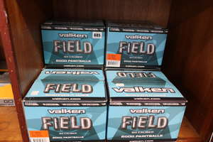 Six boxed as new Valken Field 50 caliber paintballs (2000 a box).