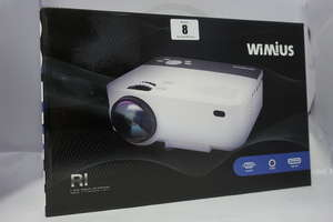 A boxed as new Wimius RI LED projector (With VGA, AV and HDMI Inputs.)