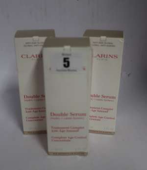 Three Clarins Double Serum  Complete Age Control Concentrate (30ml).