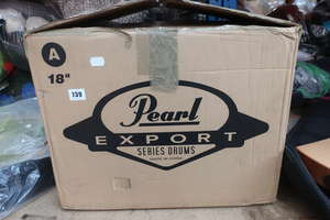 One boxed as new Pearl Junior five piece shell drum set.