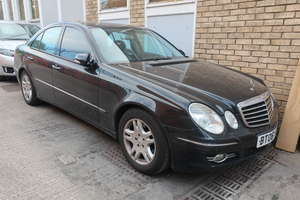 A 2006 Mercedes E280 CDI Aventgarde four door saloon, registration number BT06 NYP, 2987cc, diesel, automatic, four former keepers, mileage reading 162903 (Not Warranted), MOT until September 2019, V5 document available (Asset of Liquidation). Please Note: This lot is subject to 20% Buyers Premium plus VAT (24% in total)