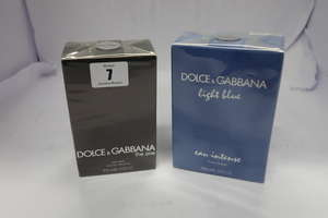 Three Dolce & Gabbana Light Blue eau intense Pour Homme (4 x 50ml), one Dolce & Gabbana The One eau de toilette for men (100ml).